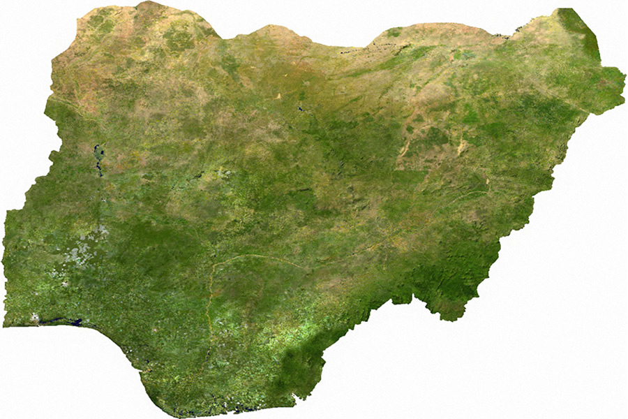 map nigeria